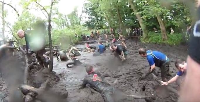 Wolf Run - very muddy