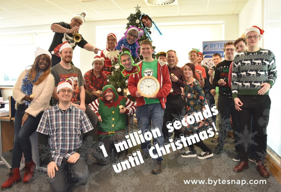 1 million seconds to Christmas at ByteSnap