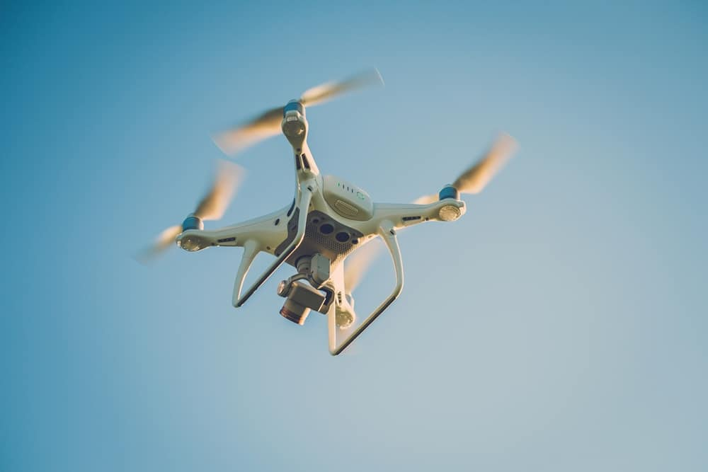 IoT project drone flying in the sky